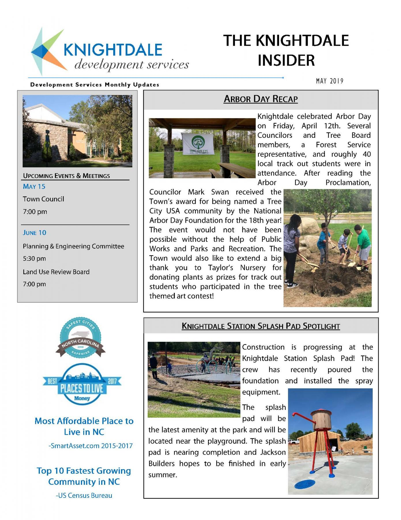 Development Services Newsletter May Page 1