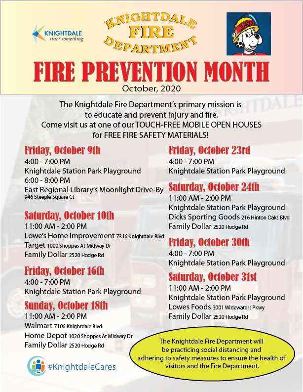 Fire Safety Month Flyer